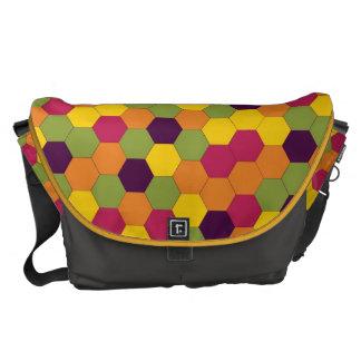 Hard Candy Honeycomb Pattern Messenger Bag
