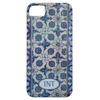 Hard Case iPhone 5! Blue Tile. Add Initials
