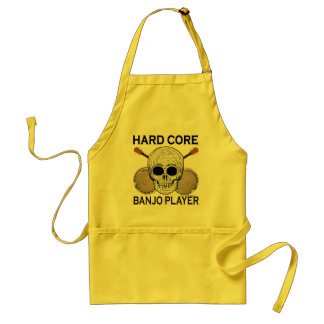 Hard Core Banjo Player Adult Apron