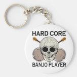 Hard Core Banjo Player Key Chains