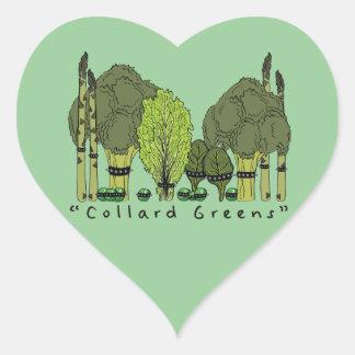 Hard Core Collard Greens Heart Sticker