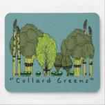 Hard Core Collard Greens Mousepads