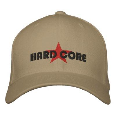 HARD CORE EMBROIDERED BASEBALL CAPS