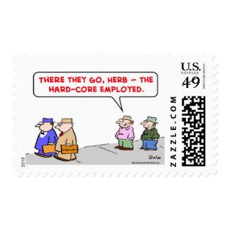 hard-core employed postage