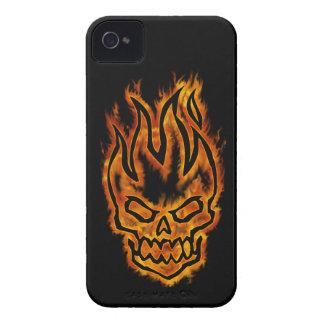 Hard Core Flaming Skull BlackBerry Bold Case