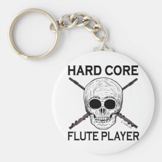 Hard Core Flute Player Keychains