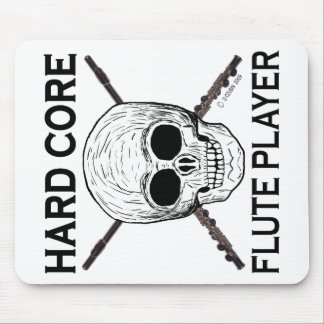Hard Core Flute Player Mouse Pad