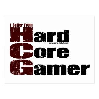 Hard Core Gamer Postcard