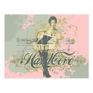 Hard Core Girl T-shirts and Gifts Postcard
