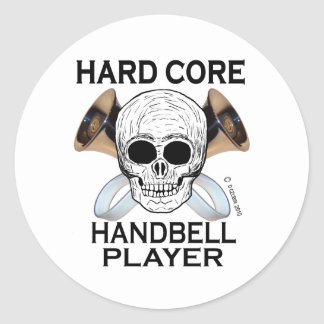 Hard Core Handbell Player Classic Round Sticker