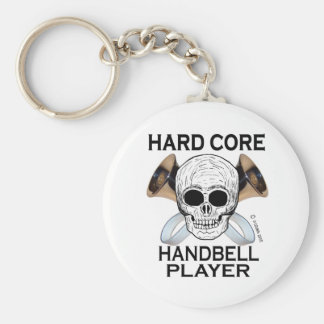 Hard Core Handbell Player Basic Round Button Keychain