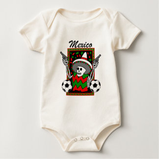 Hard Core Mexican futbol babygrow body Baby Bodysuit