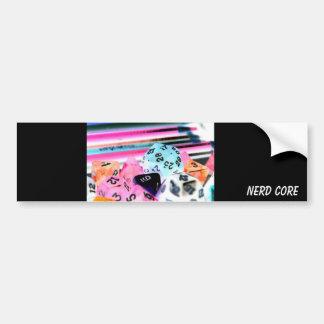 Hard Core Nerd Bumper Sticker