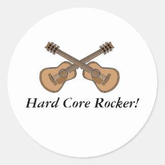 Hard Core Rocker (1) Classic Round Sticker