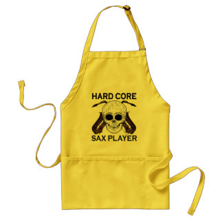 Hard Core Sax Player Adult Apron
