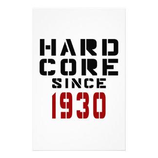Hard Core Since 1930 Stationery