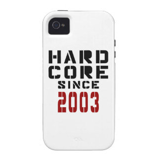 Hard Core Since 2003 Vibe iPhone 4 Cover