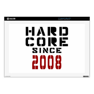 "Hard Core Since 2008 17"" Laptop Decal"