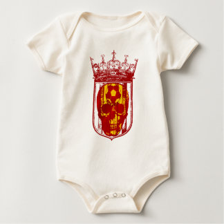 Hard core Spanish futbol fans skull shield gifts Baby Bodysuit