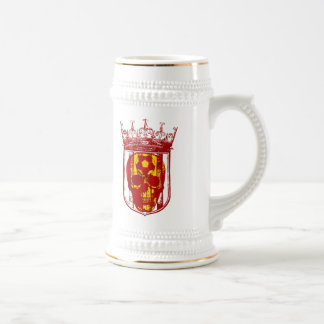 Hard core Spanish futbol fans skull shield gifts Beer Stein