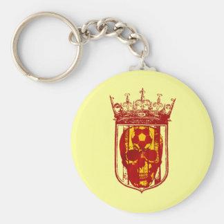 Hard core Spanish futbol fans skull shield gifts Keychain