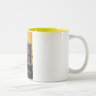 Hard day of working Two-Tone coffee mug