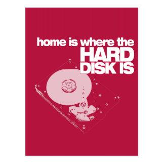 Hard Disk! Postcard