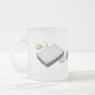 Hard disk protection broken on a white background coffee mug