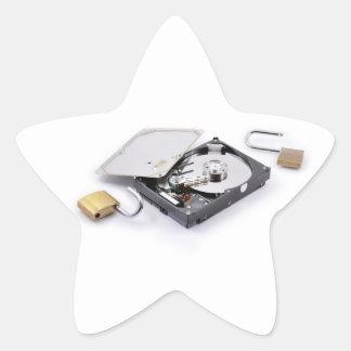 Hard disk protection broken sticker