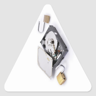 Hard disk protection broken triangle sticker