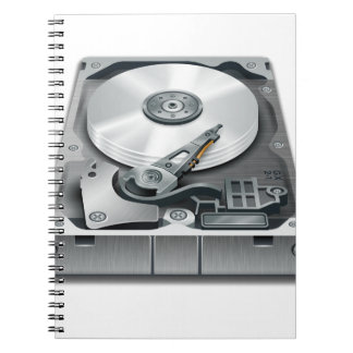 Hard Disk Spiral Notebook