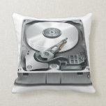 Hard Disk Throw Pillow