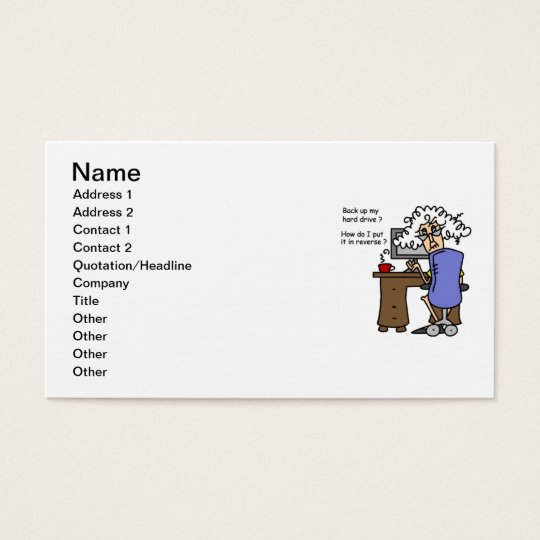 Hard Drive Back Up Humorous Business Card