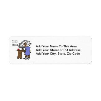 Hard Drive Back Up Humorous Custom Return Address Label