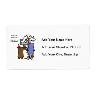 Hard Drive Back Up Humorous Personalized Shipping Labels