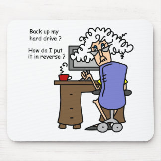 Hard Drive Back Up Humorous Mouse Pad