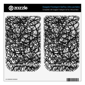 Hard Drive Skin Grunge Art Abstract Skin For FreeAgent GoFlex