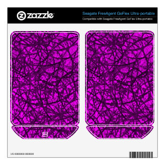Hard Drive Skin Grunge Art Abstract FreeAgent GoFlex Decals