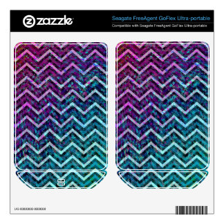 Hard Drive Skin Retro Zig Zag Chevron Pattern Skin For FreeAgent GoFlex