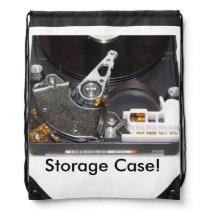 Hard Drive Storage Packpack Drawstring Backpack