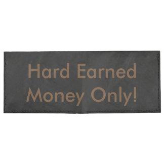 Hard earned money only tyvek wallet