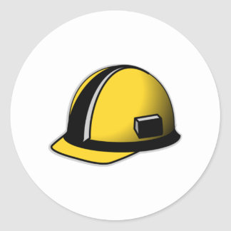 Hard Hat Classic Round Sticker
