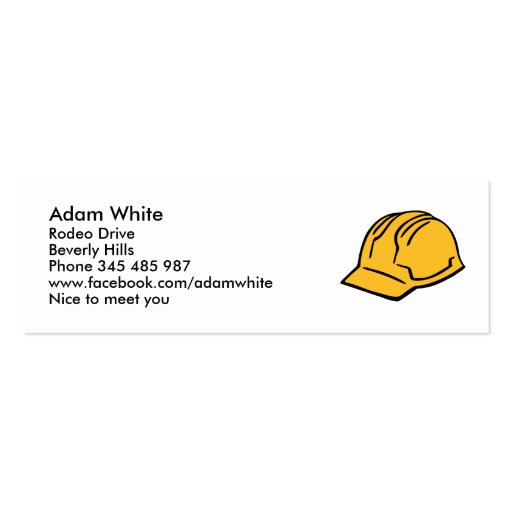 hard hat construction helmet doublesided mini business