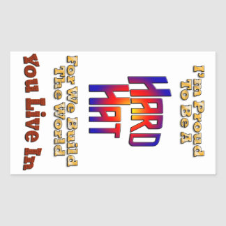 Hard Hat Pride Rectangle Stickers