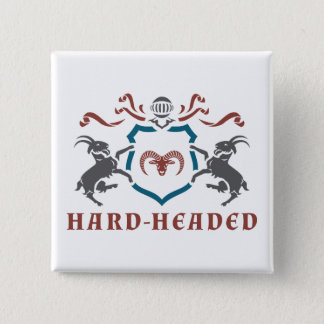 Hard-Headed Blazon Button. Button