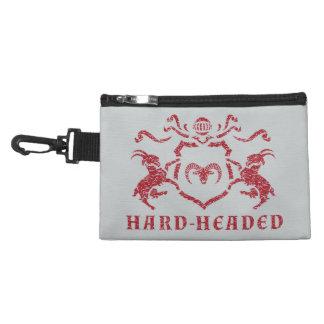 Hard-Headed Heraldic Goat Clip-On Accessory Bag
