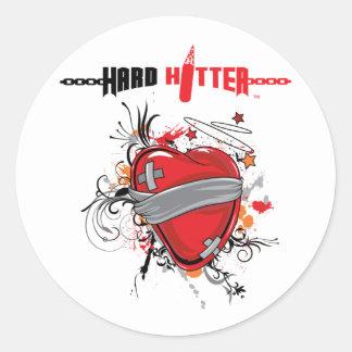 Hard Hitter Bandaged Heart Stickers