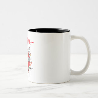Hard Hitter Bandaged Heart Two Tone Mug
