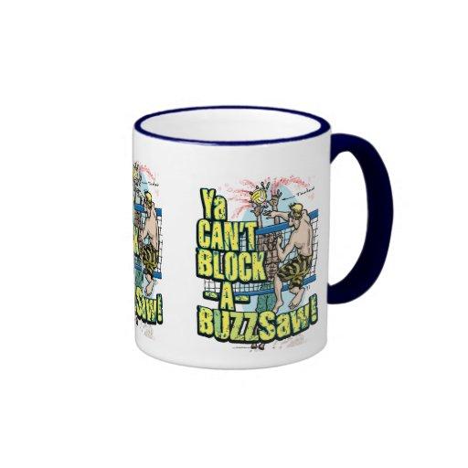 Hard Hitting Buzzsaw Vball by Mudge Studios Coffee Mugs