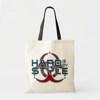 Hard Is My Style 3D hardstyle music Canvas Bag